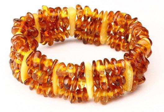 bracelet ambre 3 rangées