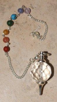 pendule quartz boule facettée