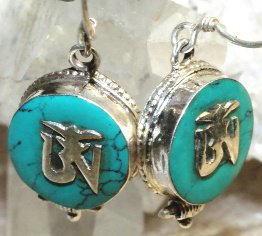 Boucles d'oreille OM Tibétain