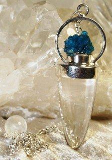 pendule cristal et cavansite