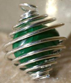 pendantif spirale pour pierres non perçées