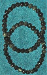 bracelet obsidiene dorée