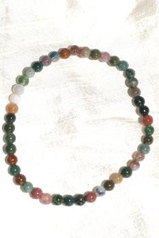 bracelet agate du Tibet 4 mm