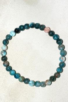bracelet apatite bleue