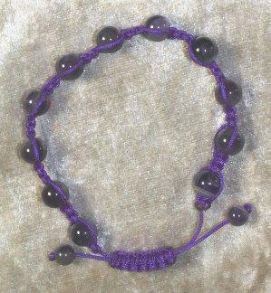 bracelet Shamballa améthyste