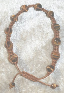 bracelet Shamballa oeil du tigre