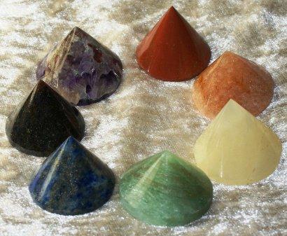 set de 7 cônes pour les chakras
