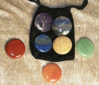 set de 7 pierres rondes