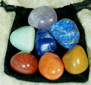set de 7 pierres roulées