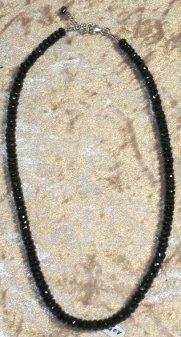 Collier Tourmaline noire facettée