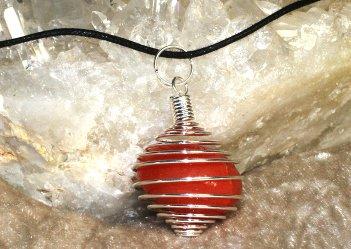 collier spirale/pendule