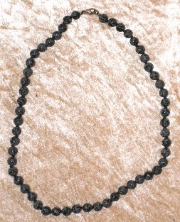 collier obsidienne flocons de neige