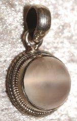 pendentif argent pierre de lune